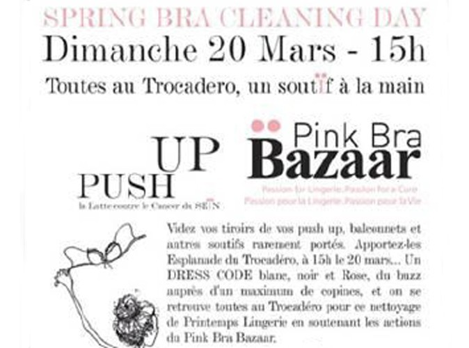 Lutte contre le cancer du sein: Pink Bra Bazaar nous propose de faire sauter nos soutiens-gorge !