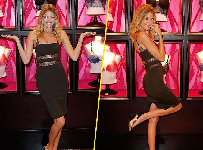 Martha Hunt : sexy en petite robe noire pour Victoria's Secret !