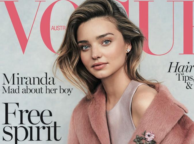 Miranda Kerr : elle pose avec son fils Flynn pour Vogue Australie !