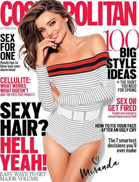 Miranda Kerr : pour Cosmopolitan Australie, le top rayonne !