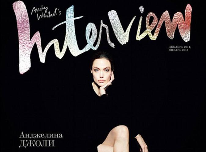 Mode : Angelina Jolie : chic en couverture d'Interview Magazine, elle veut se lancer dans la politique !