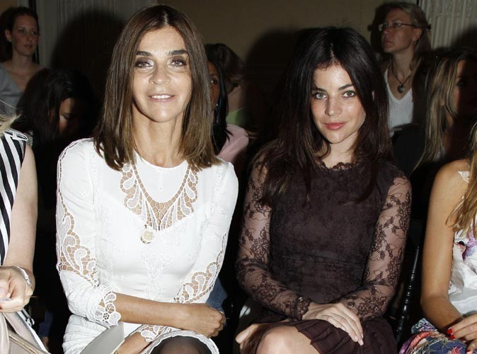 Carine Roitfeld et sa fille au défilé Valentino