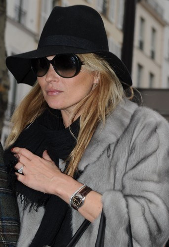 Kate Moss et son chapeau préféré