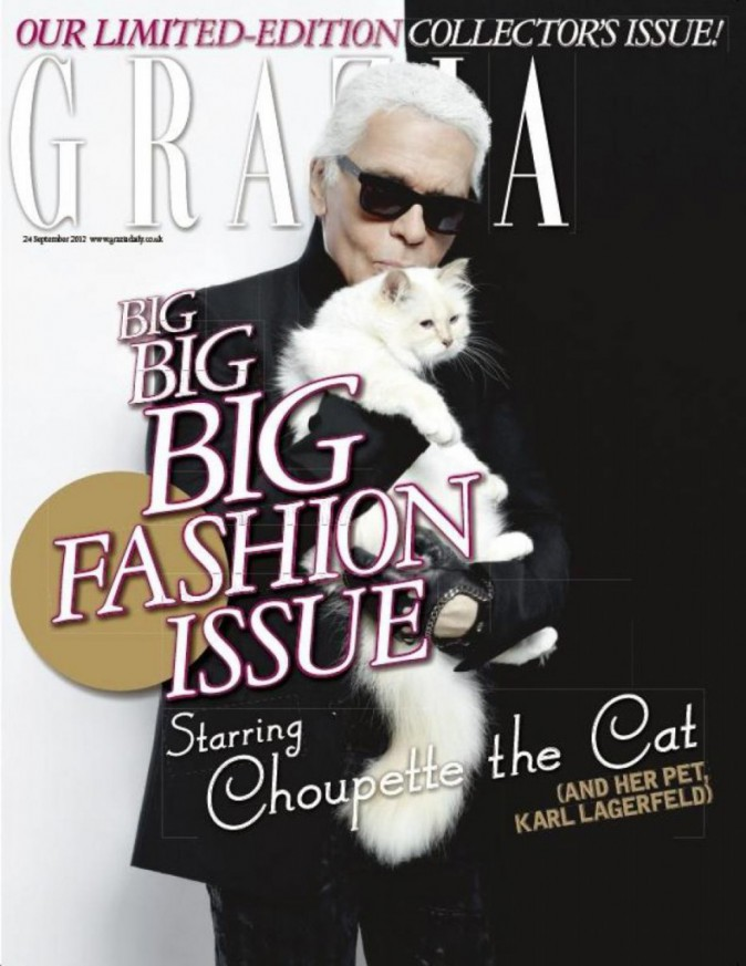 Choupette en cover de GRAZIA