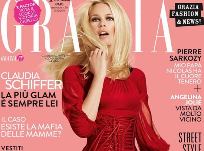 Mode : Claudia Schieffer : beauté fatale en Dolce & Gabbana pour Grazia Italie !