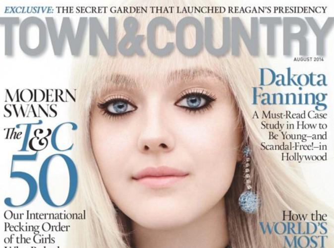 Mode : Dakota Fanning : une beauté froide très sûre d'elle en Une de Town&Country !