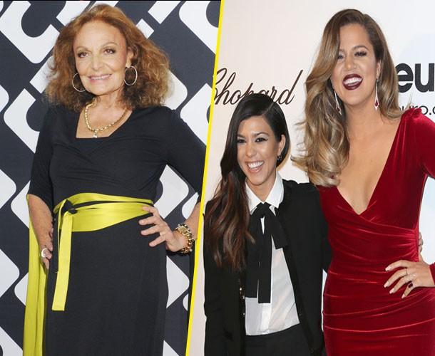 Mode : Diane Von Furstenberg : fera-t-elle de l'ombre à Kourtney et Khloé Kardashian ?