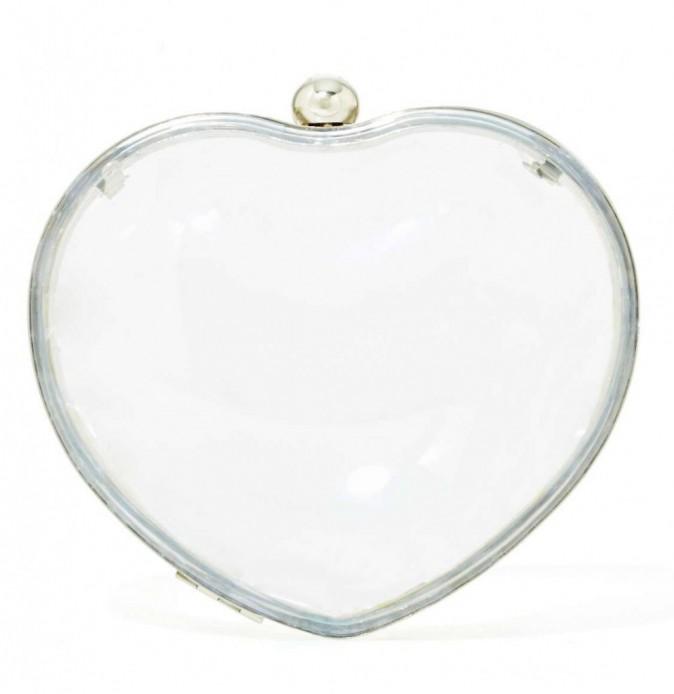 Pochette coeur transparente, Nasty Gal, 29€