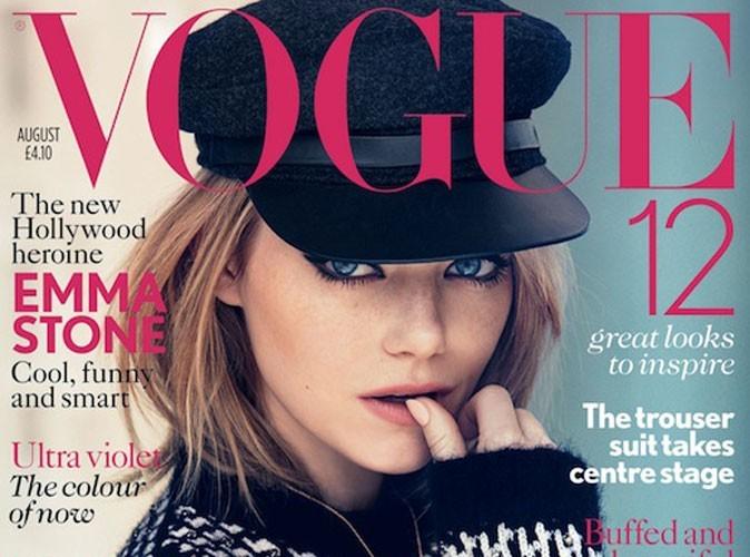 Mode : Emma Stone un peu trop couverte pour l'édition août 2012 du Vogue UK ?