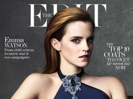 Mode : Emma Watson : beauté hypnotisante en une de The Edit !
