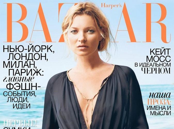 Mode : Kate Moss pas vraiment à son avantage pour le Harper's Bazaar ukrainien !
