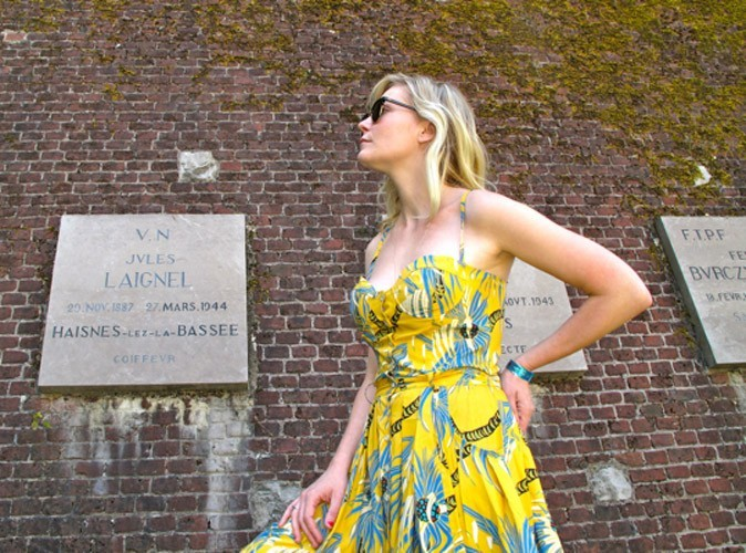 Kirsten Dunst en vacances à Arras