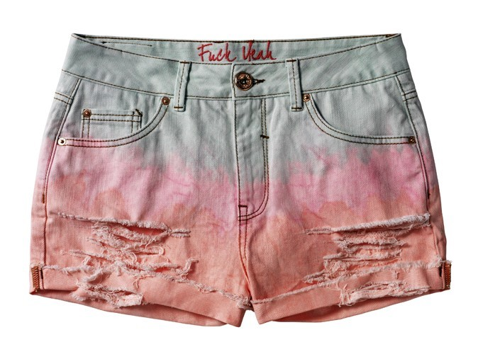 Short en denim tie & dye, Tom Tailor, 49 €