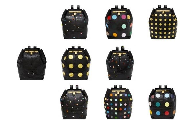 Les neuf modèles designés par l'artiste