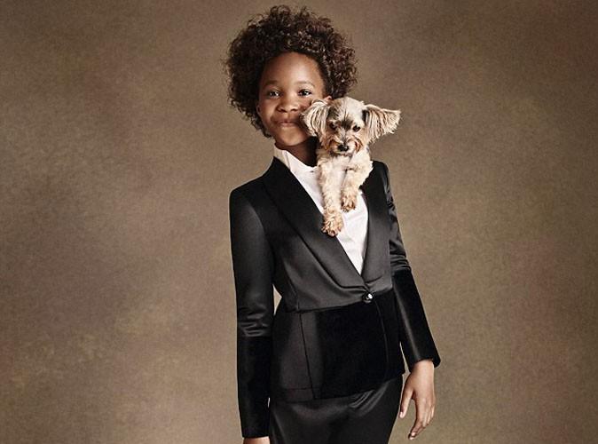 Mode : Quvenzhane Wallis : une égérie malicieuse et glamour pour Armani Junior !