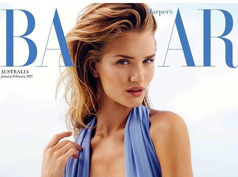 Mode : Rosie Huntington-Whiteley : sublime créature sexy en couverture de Harper's Bazaar !
