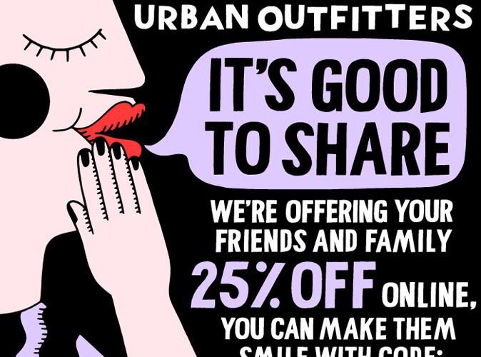 Mode : Urban Outfitter lance une promotion de 25% sur tout son e-shop... Dès maintenant !
