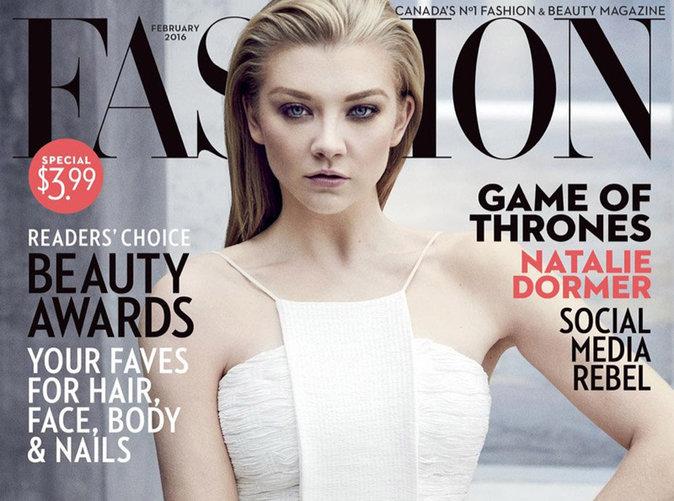 Natalie Dormer : beauté envoûtante en une de Fashion Magazine !