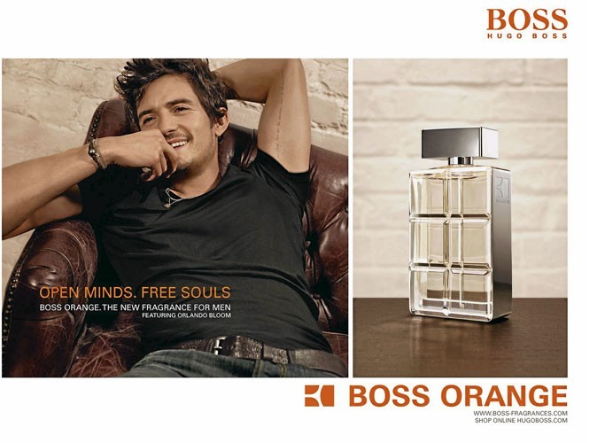 orlando bloom joue le beau gosse pour le parfum hugo boss orange. Black Bedroom Furniture Sets. Home Design Ideas