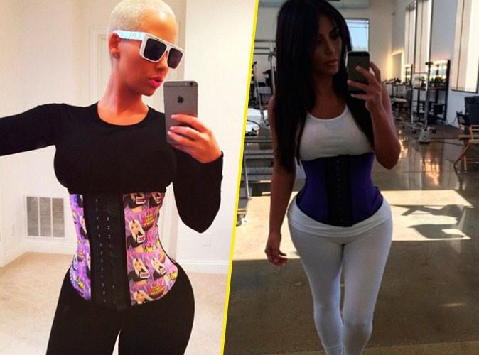 Photos : Amber Rose : elle ne peut pas s'empêcher de copier Kim Kardashian !