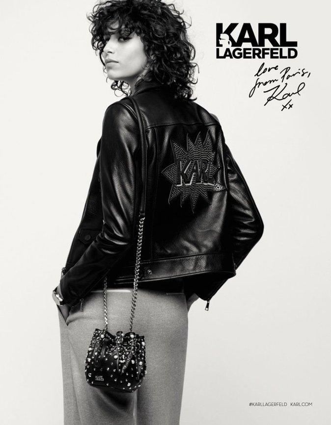 Mica Arganaraz pour Karl Lagerfeld