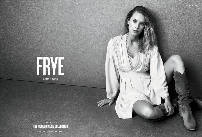 """Photos : Dylan Penn : nouveau visage de la marque """"Frye"""""""