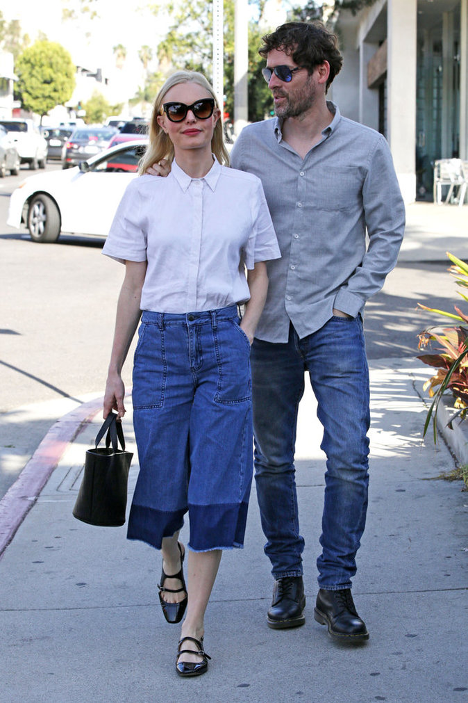 Photos : Kate Bosworth le pantacourt en jean fait des émules !