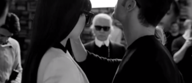 Batispte et Kendall en plein shooting sous le regard de Karl
