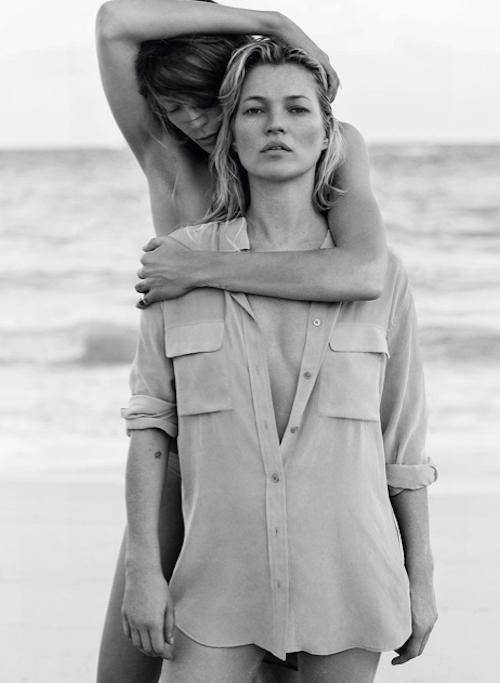 Photos : Kate Moss toujours bombesque devant l'objectif de Daria Werbowy pour Equipment