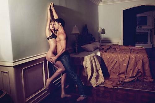 Kellan Lutz et Anne V dans la nouvelle campagne de pub Abbott & Main by Dylan George.