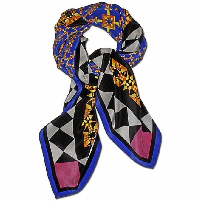 Le foulard en soie Hamish. Lucy Jay. 149 €
