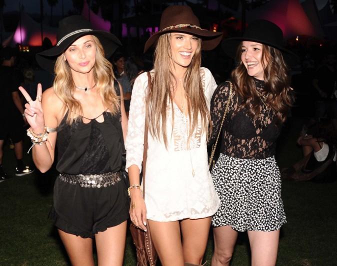 Alessandra Ambrosio et son crew au festival Coachella