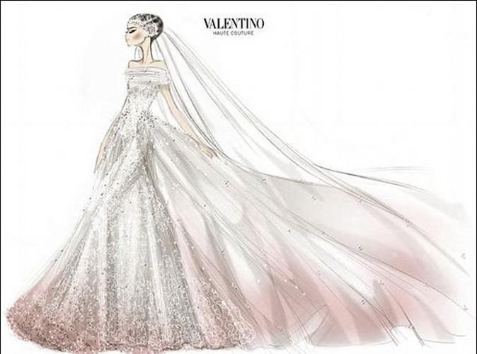 La robe de mariée dessinée par Valentino, superbe !