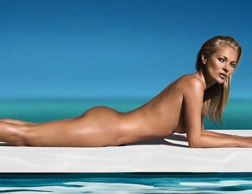 Beauté : Kate Moss : Une égérie qui se met à nue pour les produits de bronzage Saint Tropez !