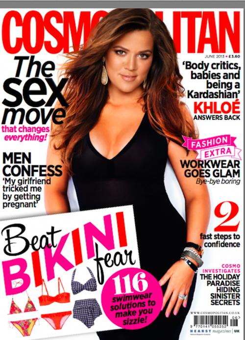 Khloé Kardashian en couverture du numéro de juin de Cosmopolitan UK