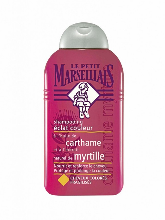 Shampoing éclat couleur, Le Petit Marseillais. 3,50 €.