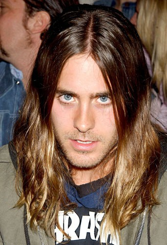 Jared Leto à la Mercedes-Benz Fashion Week, le 30 mars 2004.