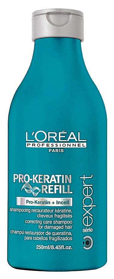 6. Je réconforte mes cheveux : Shampooing restaurateur kératine, Pro-Keratin Refill, L'Oréal Professionnel, 12 €
