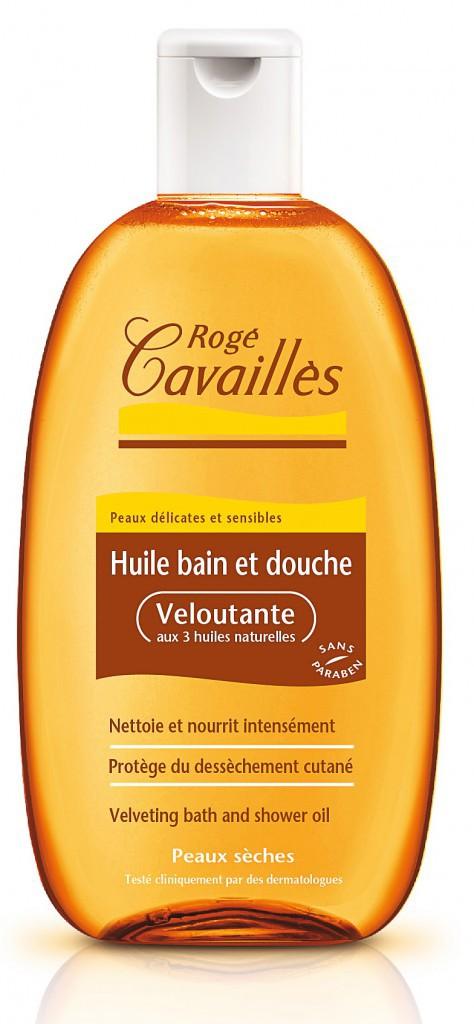 7. J'opte pour l'hydratation minute : Huile bain et douche, Veloutante, Rogé Cavaillès, 13 €