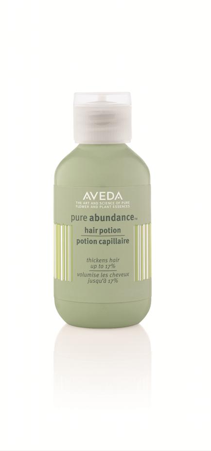 Les produits : La crème de la crème :  La potion capillaire Pure Abundance - Aveda - 27,20 € Conseillé aux cheveux fins, appliquez cette crème...