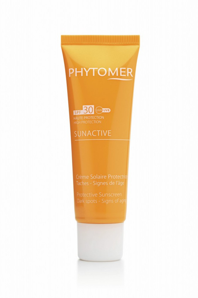 Crème solaire protectrice SPF 30, Sunactive, Phytomer 36 €