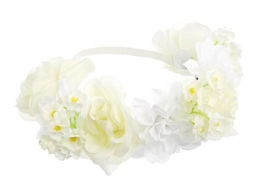 Couronne de fleurs blanches, Garland sur Asos 14 €