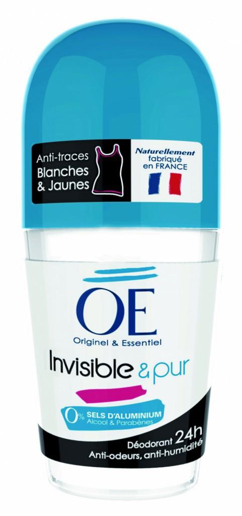 Déodorant bille invisible & Pur, Oé, 3,20€