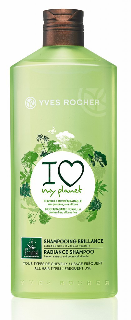 Shampooing brillance I Love My Planet, Yves Rocher. 4,70€
