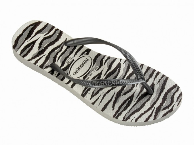 Havaianas Slim Animals, white/grey 28 €
