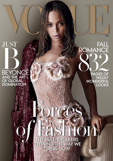 Queen Bey cover girl divine pour Vogue US