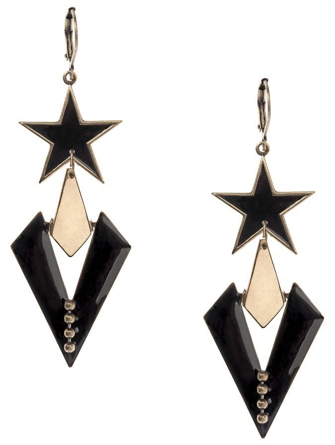 Boucles d'oreilles en métal et émail, Virginie Mahé, 58€