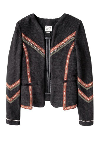 3. Veste ethnique, Pull and Bear, 59,99€