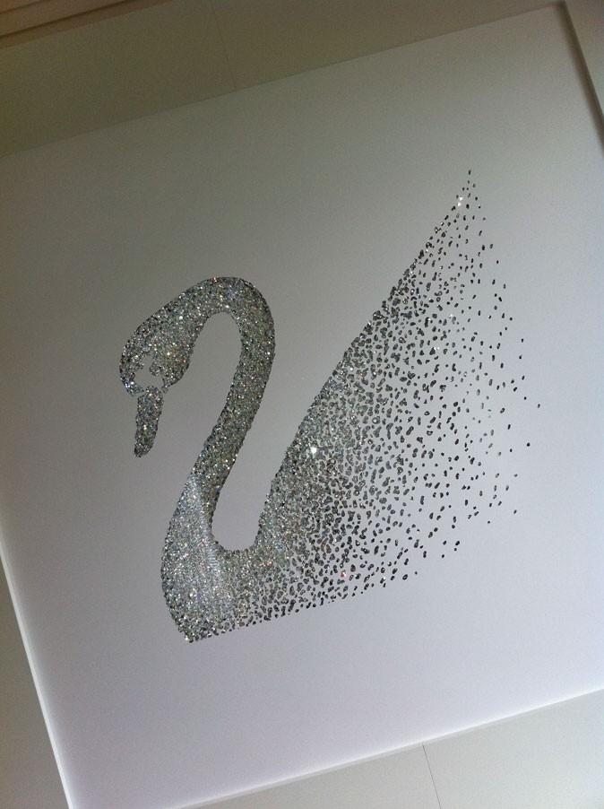 Cannes 2011 : le fameux cygne de Swarovski !