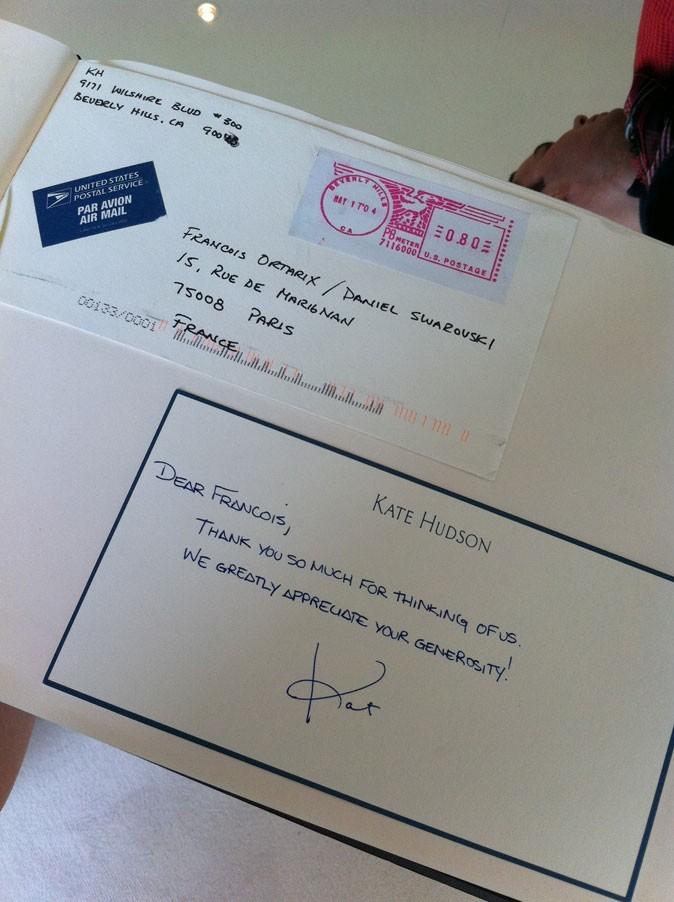 Cannes 2011 : le mot de remerciement de Kate Hudson !